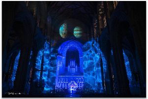 Awe-inspiring: A sneak preview of Son et Lumiere. Picture: Nick Lancaster.
