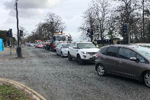 Traffic jams caused by roadworks and lane closures are leading to problems for Harrogate town centre, especially at York Place and Leeds Road.