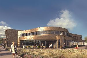 Artists impression of the new Christie Cancer Centre at Macclesfield