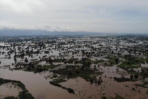Cyclone devastation - Flooding in southern Malawi.