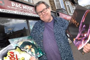 'No' to Record Store Day - Harrogate's P&C Music independent record shop owner Peter Robinson outside his shop at Devonshire Place. (1704183AM1)