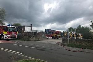 Firefighters dealt with a blaze at a former youth club in Frecheville yesterday