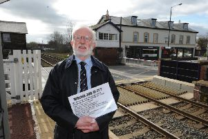 Bone of contention - Campaigner Trevor Dale at Starbeck railway level crossing  which  causes delays for drivers.