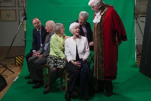 Amazing - Reconstruction - Some of the local celebrities at Sundays photo-shoot at Harrogates Mercer Art Gallery.