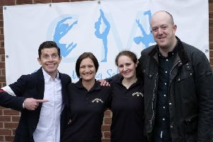 Danny Adams, Startastic events manager Lynsey-Anne Johnson, owner Charlene Melling and Mick Potts at the official opening of Startastic's new premises in Whitley Bay.