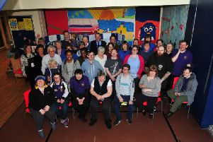 Pictured at the 25th anniversary celebrations: Members, volunteers and supporters of Ripon Activity Project. Picture: Gerard Binks.