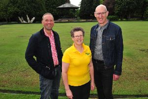 Some of the Men's Shed Ripon project leaders: Andrew Makey, Caroline Bentham and Ed Moore. Picture: Gerard Binks.