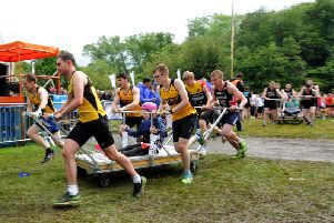 Nidd Valley Road Runners in Saturdays Knaresborough Bed Race.