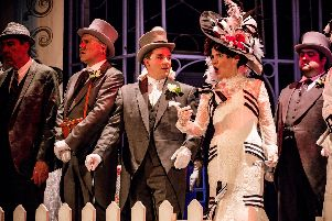 Nina Logue shines as Eliza Doolittle, transforming from Covent Garden flower girl to well spoken lady.