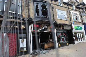Bouncing back - The fire-damaged part of Beulah Street in Harrogate. (Picture by Gerard Binks)