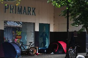 Concern for Harrogate town centre has grown fuelled in part by an increase in visible street begging and the shortlived arrival of a mini tent village on Oxford Street.