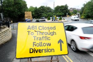 New road closure in Harrogate on the A61 Ripon Road. (Picture Gerard Binks)
