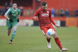 IN PICTURE: Paul Marshall.'SPORT: LEAD: Alfreton Town FC v Worcester City.  National League North match at the Impact Arena Stadium, Alfreton.  Saturday 21st January 2017.' PHOTOGRAPHER: MARK FEAR - MARK FEAR PHOTOGRAPHY.  CONTACT markfearphotographer@outlook.com (+44) 753 977 3354