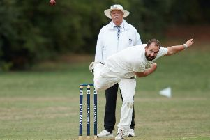 Simon Jewitt, six wickets in vain for Hundhill Hall. Picture: John Clifton