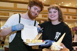 George Lee & Hannah Mizen showing off there sweet delights