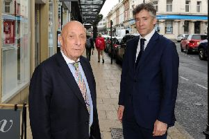 William Woods and Robert Ogden, two of the founding members of Independent Harrogate pictured in James Street, Harrogate. (Photo by Gerard Binks)