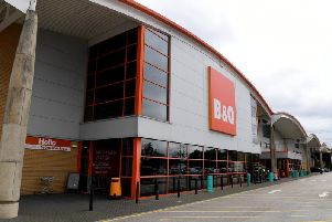 The B&Q store in Bamber Bridge which could soon house a Morrisons supermarket.