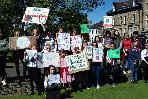 Flashback to pupils taking part in a Harrogate Youth Strike earlier this year in Harrogate town centre.
