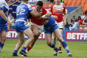 Mike Weldon during Sheffield Eagles' Summer Bash clash with Barrow. Picture: Alex Coleman, ADC Photography.