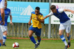 Pacy winger Tyler Williams has returned from suspension for Stocksbridge. Picture: Gillian Handisides