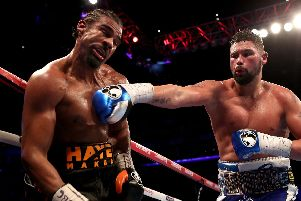 Tony Bellew (right) in action against David Haye (pic: Nick Potts/PA Wire.)