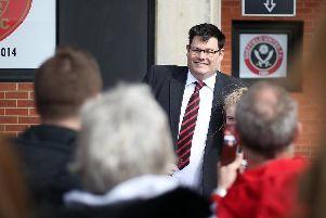 Mark Labbett at a Sheffield United match at Bramall Lane. Picture: David Klein/Sportimage.