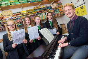 New direction: Charlie Rhodes has joined Rastrick High School as director of choirs.