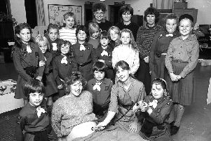 The Barmby Moor Guides group in 1989.