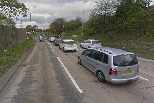 The northbound exit slip road of the M1 at junction 34 for Meadowhall. Picture: Google