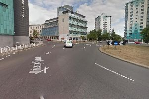 University Square roundabout, Sheffield. Picture: Google.
