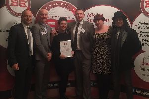 Pictured (from left to right) Paul Blomfield, Sheffield Central MP; Richard Eyre, city centre manager; Tracey Ford , Best Bar None project manager; Sgt Matt Burdett; Helen Philips-Jackson, commissioning manager Sheffield Council and Mark Hobson director of Corporation nightclub.