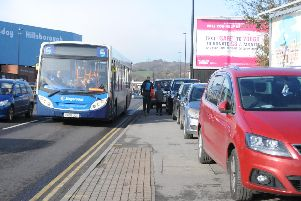 Parking on Penistone Road, near Hillsborough, on Saturday. Picture: Sam Cooper / The Star