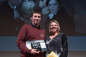 Young filmmaker, Liam Blackwell, a pupil at Wales High School, received the Best TV Extract award for his creation - The Real Slim Lady, at this year's WJEC Eduqas Moving Image Awards