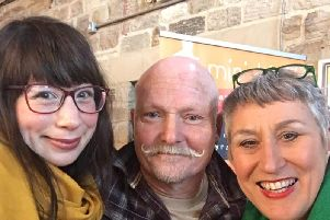 Fellow Bake Off contestants Kim Joy and Terry had lunch and a good old catch-up with Karen.