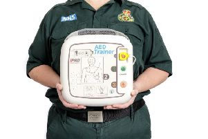 The North East Ambulance Service (NEAS) is offering to help communities with funding for a new community defibrillators. Picture by Doug Pittman.