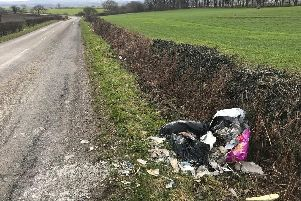 Just one of the 100 flytipped bags