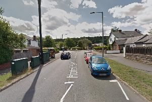 Hutcliffe Wood Road, at the junction with Abbey Lane (Google)
