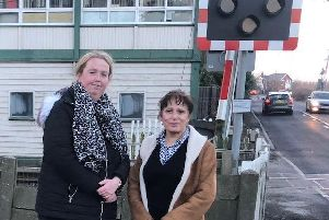 Lancashire County Coun Kim Snape and campaigner Lucienne Jackson