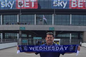 Mark Whiteman, pictured at Wembley for Wednesday's Championship playoff final against Hull City in 2016.