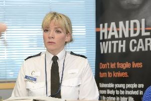 Det Supt Una Jennings of South Yorkshire Police launching Operation Sceptre.