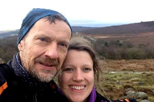David Bocking and daughter Emily at Burbage Edge