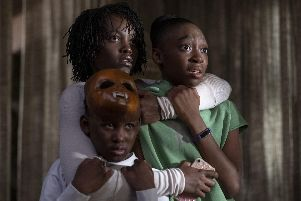 Us. Pictured: Lupita Nyong'o as Adelaide Wilson, Evan Alex as Jason Wilson and Shahadi Wright Joseph as Zora Wilson. Credit PA.