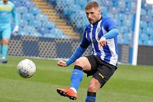 Gary Hooper played for Sheffield Wednesday in a behind-closed-doors game at Middlewood on Tuesday