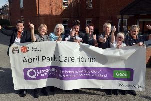 April Park celebrates its positive report from the Care Quality Commission. Picture by Brian Eyre.