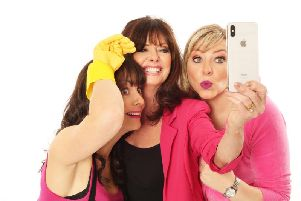 The cast of Hormonal Housewives are Josephine Partridge, Vicki Michelle and Julie Coombe, who also co-write it
