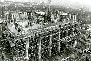The Arts Tower under construction in the 1960s. Picture: Derek Fellows
