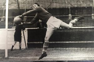 Former Sheffield United goalkeeper Ted Burgin