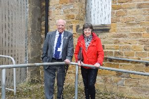 Councillor Graham Baxter MBE, Leader of North East Derbyshire District Council and Local Councillor for Dronfield, Christine Smith.