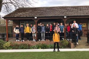 Students from Scarborough Sixth Form visited Scarborough Bowling Club's Manor Road crown green