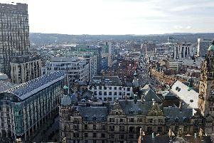 Sheffield city centre. Picture: Andrew Roe